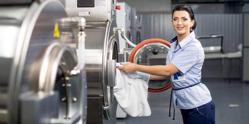 Прання постільної білизни в пральні фото